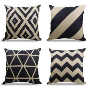 Other - Geometric Pattern Throw Pillows Covers